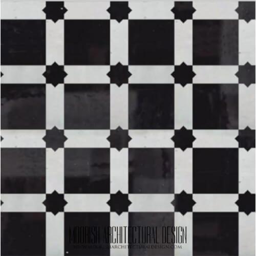 Moroccan Monochrome Tile 20