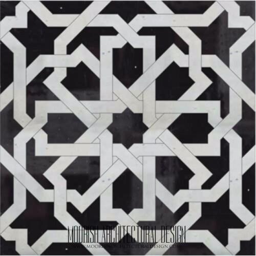 Moroccan Monochrome Tile 21