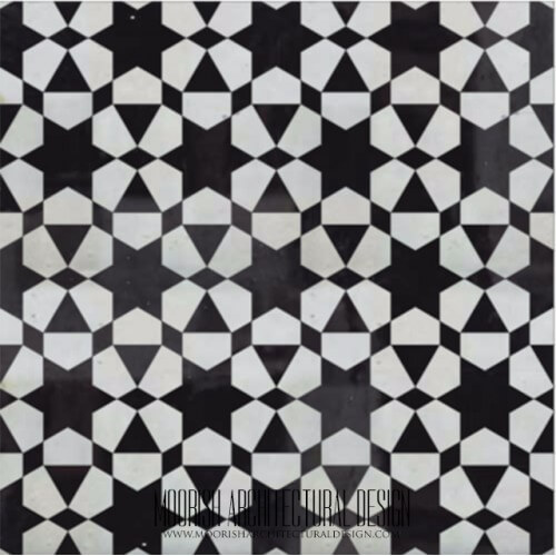 Moroccan Monochrome Tile 22