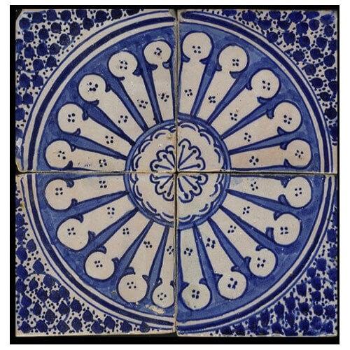 Blue moroccan tile santa barbara california for Fez tiles