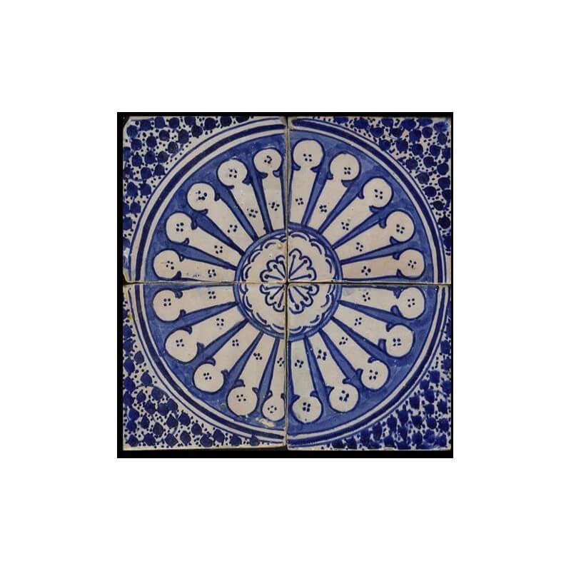 Blue Moroccan Tile Santa Barbara California