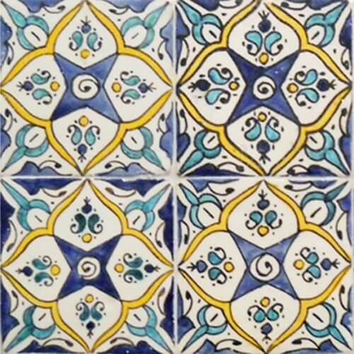Moroccan Hand Painted Tile 04