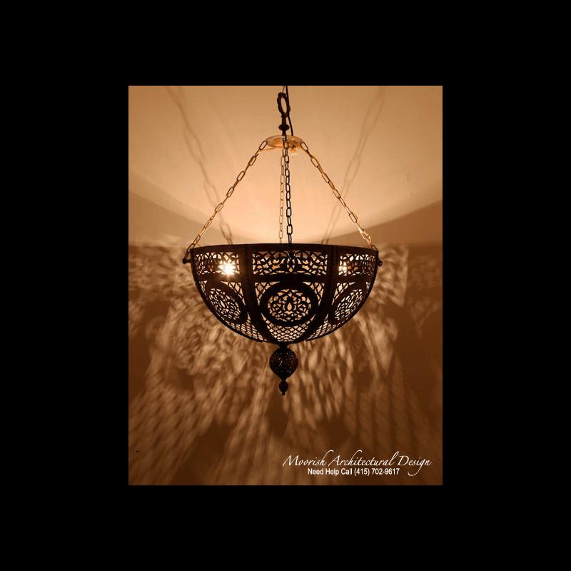 Moroccan Pierced Brass Pendant Lights