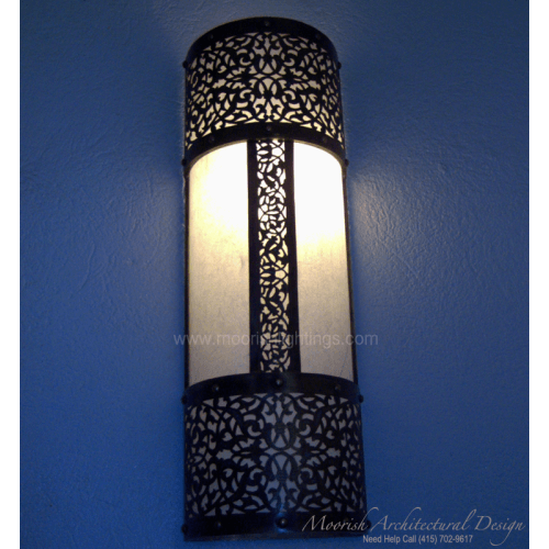 Moroccan Ceramic Wall Lights : Modern Wall Sconces Moroccan filigree wall lamps