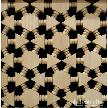 Moroccan Wood Lattice Screen 02