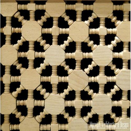 Moroccan Wood Lattice Screen 04