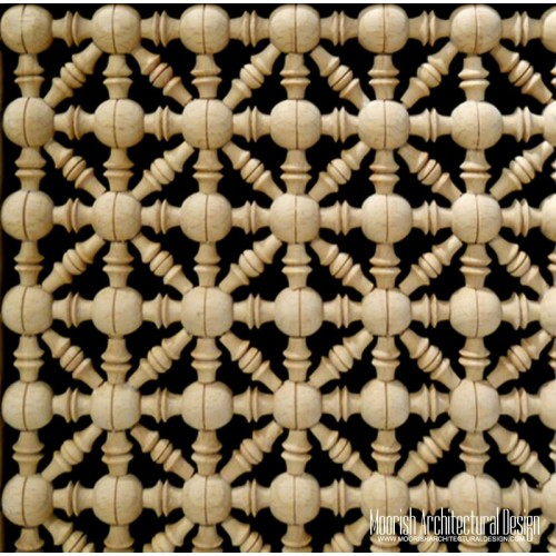Moroccan Wood Lattice Screen 05