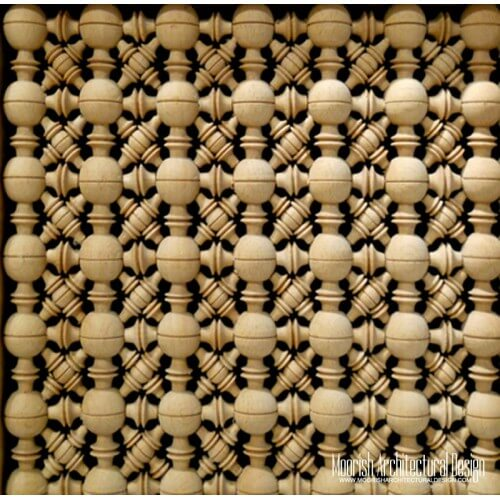 Moroccan Wood Lattice Screen 06