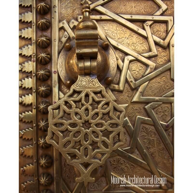 Custom Moroccan hand door knocker