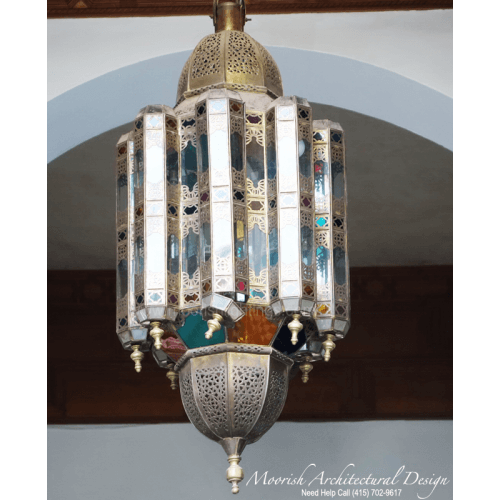 Moroccan Style Colored Glass Lantern