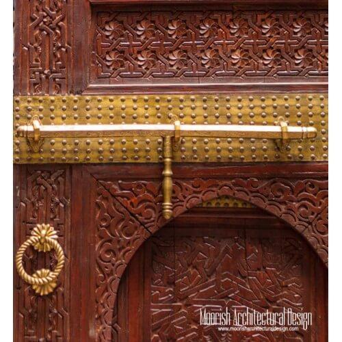 Custom brass door hardware