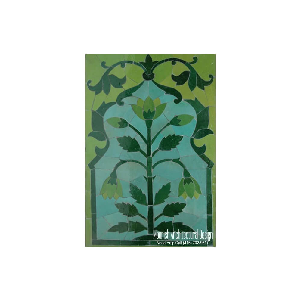 Decorative ceramic tile tile murals moroccan tiles for Decorative mural