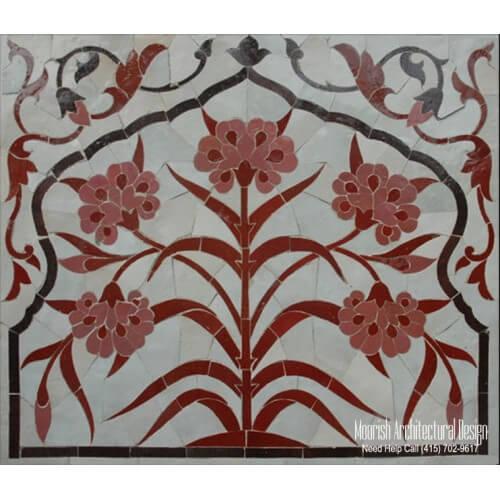 Custom tile murals mosaic tile murals moroccan mosaic for Custom mosaic tile mural
