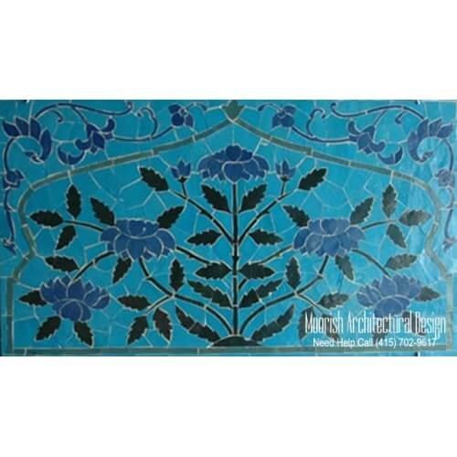 Bathroom mosaic tile murals design ideas moroccan tile for Custom mosaic tile mural