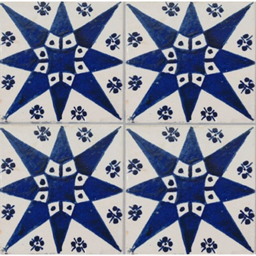 Moroccan Hand Painted Tile 11
