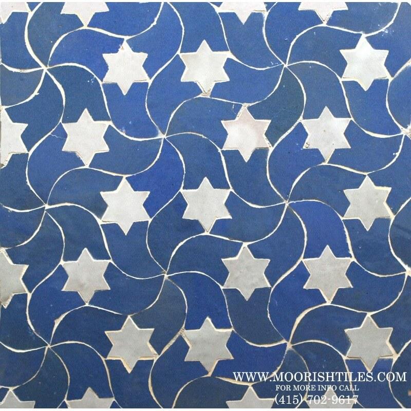 Blue Moroccan Tile kitchen