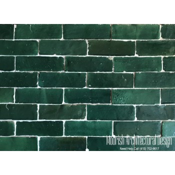 Green Moroccan Subway Tiles