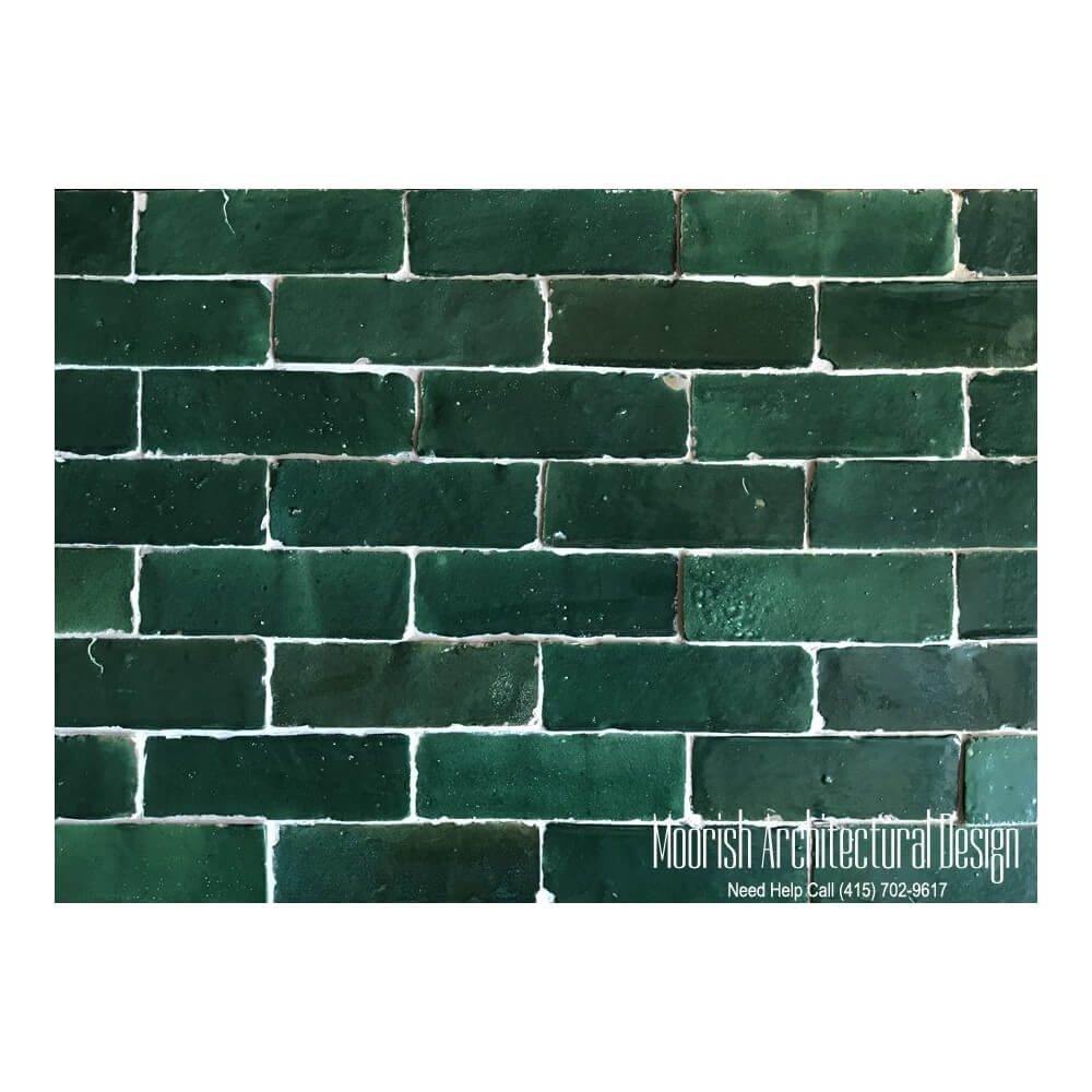 Green Subway Tiles Green Moroccan Subway Tiles  Green Bejmat