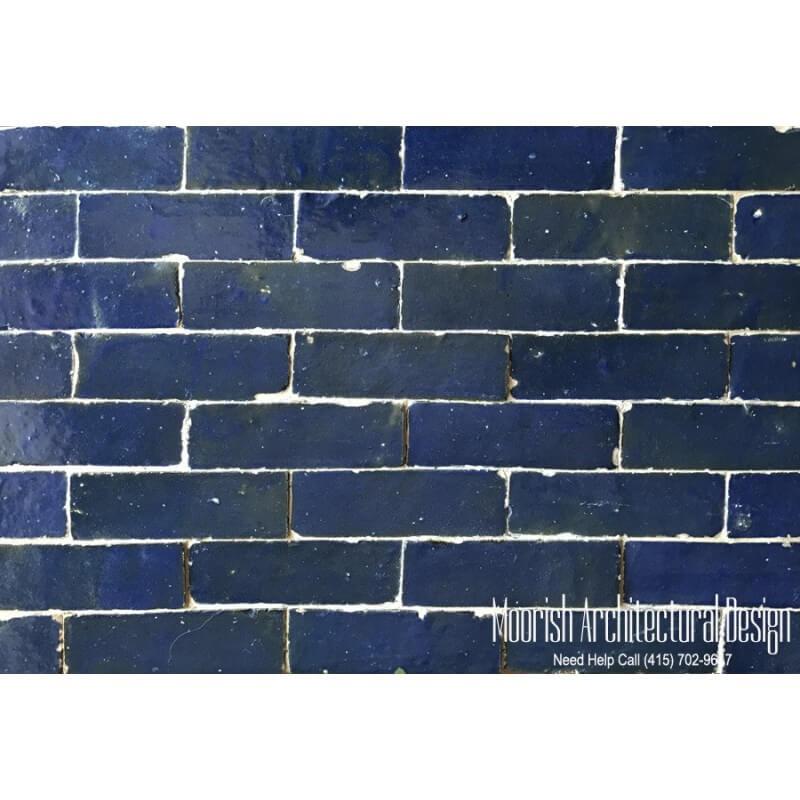 Blue Moroccan Subway Tiles