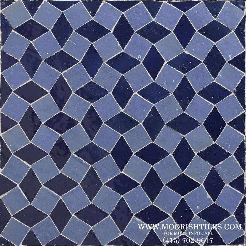 Moroccan fireplace tile