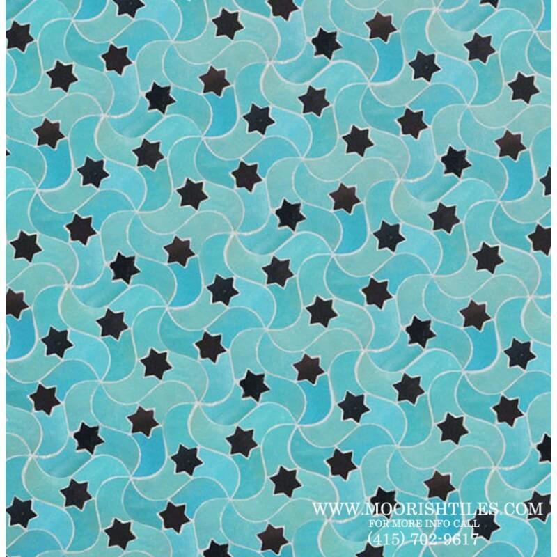 Aqua Blue Moroccan Tile