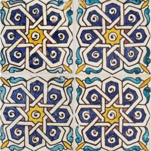 Moroccan Hand Painted Tile 19
