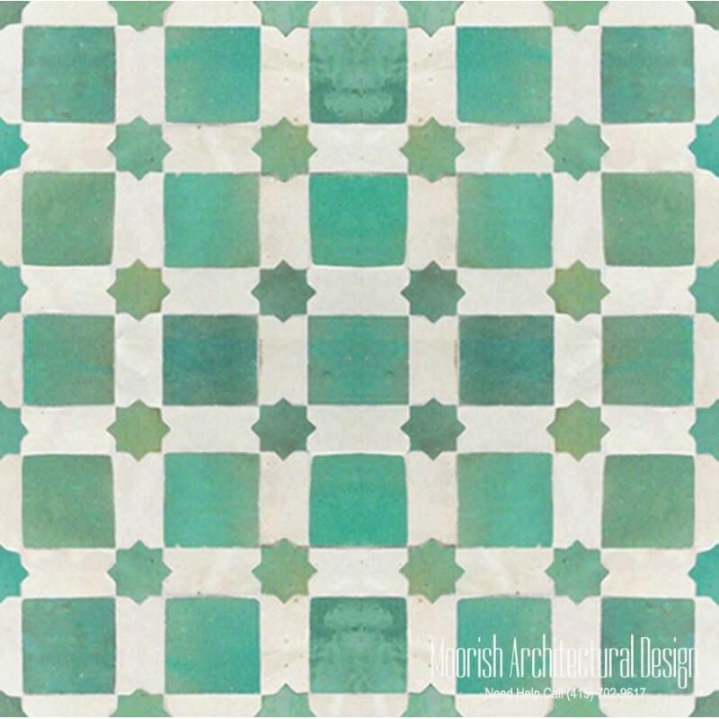 Green Moroccan mosaic