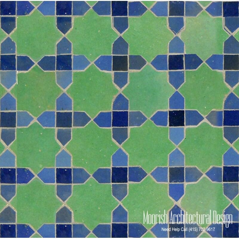 Moroccan shower wall tile