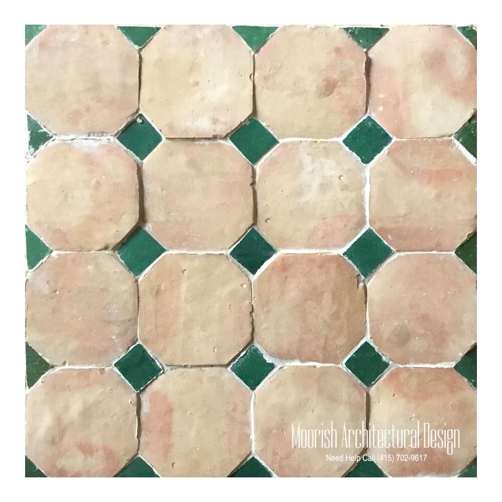 Octagonal floor tile