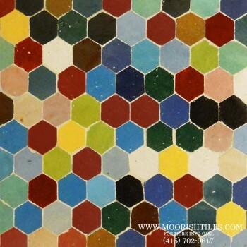 Multi color Hex Tiles