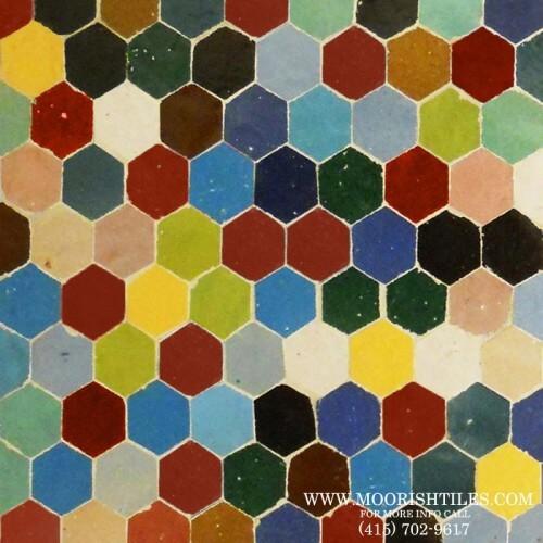 Multi color Hexagone Tiles
