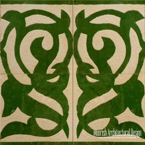 Rustic Moorish Tile 09