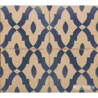 Rustic Moorish ceramic tile