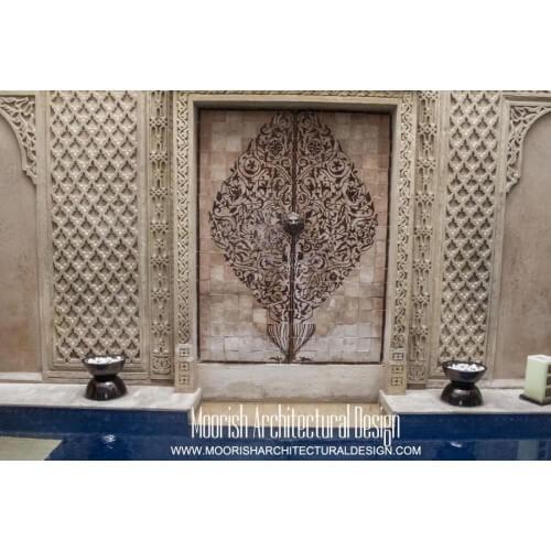 Decorative ceramic tile tile murals moroccan tiles for Decorative tile mural