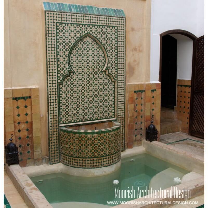 Moroccan Fountain Green