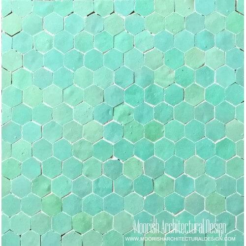Aqua Green Hex Tiles