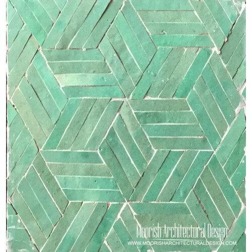 Aqua Pinwheel Tile