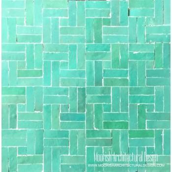 Aqua Green basket weave Tile