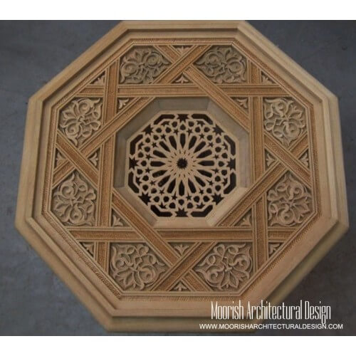 Moroccan Carved Wood Panel 01
