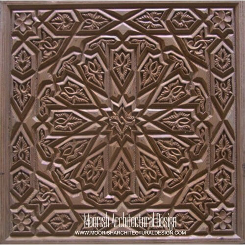 Moroccan Carved Wood Panel 02