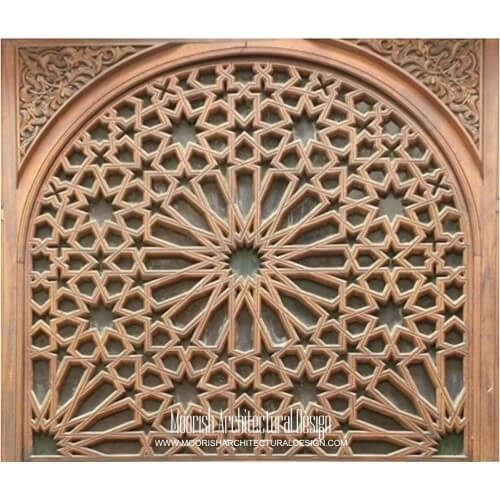 Moroccan Carved Wood Panel 04