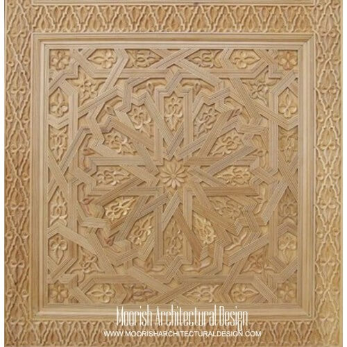 Moroccan Carved Wood Panel 07