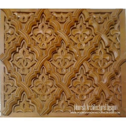 Moroccan Carved Wood Panel 08